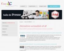 Nouveau : la salle de presse R-M est en ligne